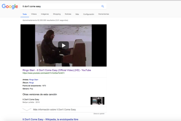 October 2017 the trichordist a google search for ringo starrs it dont come easy returns a youtube video as top result try it at home but our experience shows for nearly any song ccuart Gallery